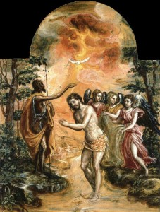 El Greco, the Baptism of the Lord