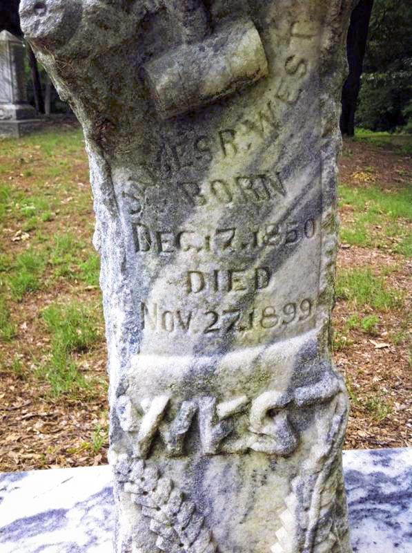 J. R.'s headstone