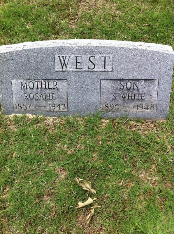 Rosalie's and Son's graves