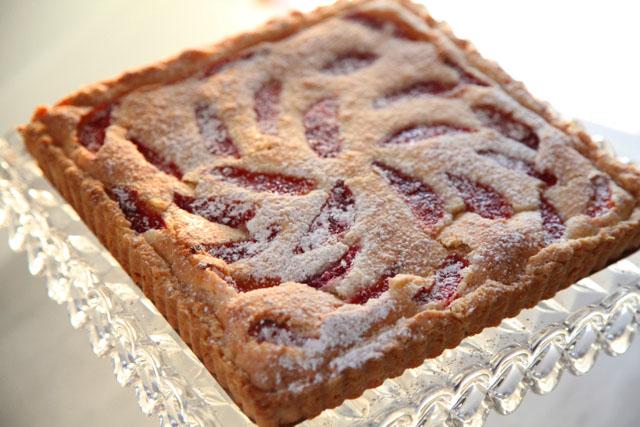 the finished tart